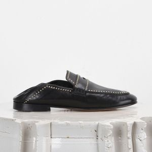 Isabel Marant Fezzy 41 Leather Studded Loafer